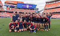 Cleveland, OH - June 11, 2018: The USWNT trains in preparation for an international friendly against China.