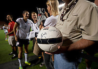 Fans, soccer ball.  The USWNT defeated Brazil, 4-1, at an international friendly at the Florida Citrus Bowl in Orlando, FL.
