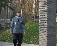 """Auf dem Gelaende des Einsatzfuehrungskommando der Bundeswehr, der Henning-von-Tresckow-Kaserne bei Potsdam, wurde ein Ehrenhain zum Gedenken an die im Einsatz verstorbenen Bundeswehrangehoerigen eingerichtet. In diesem """"Wald der Erinnerunge"""" sind die Gedenkhaine aus den Einsatzgebieten der Bundeswehr errichtet worden. Zum Teil originalgetreu nachgebildet von den Orten in denen die Bundeswehr eingesetzt war und Angehoerige verstorben sind.<br /> 14.11.2014, Potsdam<br /> Copyright: Christian-Ditsch.de<br /> [Inhaltsveraendernde Manipulation des Fotos nur nach ausdruecklicher Genehmigung des Fotografen. Vereinbarungen ueber Abtretung von Persoenlichkeitsrechten/Model Release der abgebildeten Person/Personen liegen nicht vor. NO MODEL RELEASE! Don't publish without copyright Christian-Ditsch.de, Veroeffentlichung nur mit Fotografennennung, sowie gegen Honorar, MwSt. und Beleg. Konto: I N G - D i B a, IBAN DE58500105175400192269, BIC INGDDEFFXXX, Kontakt: post@christian-ditsch.de<br /> Urhebervermerk wird gemaess Paragraph 13 UHG verlangt.]"""
