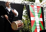 Concierto de Txistularis por la banda Municipa de San Sebastian en la primera semana vasca en la Casa de Vacas del Parque del Retiro de Madrid. Octubre 03, 2010. (ALTERPHOTOS/Alvaro Hernandez)