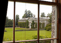 View of the stable block through one of the windows at Goodwood