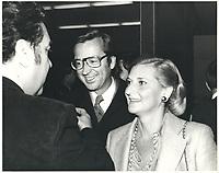 Robert Bourassa et son epouse<br /> le 14 avril 1978<br /> <br /> PHOTO :  Agence Quebec Presse