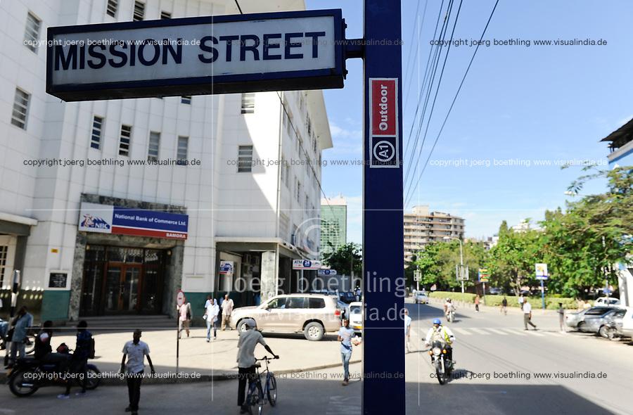 Tanzania Dar es Salaam, city centre, Mission Street  / TANSANIA Dar es Salam, Stadtzentrum Mission Strasse