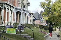 Scenes from Springfield, Ohio on Monday Oct. 11, 2004.<br />