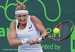 March 24 2016:  Tamea Bacsinszky (SUI) defeats Margarita Gasprayan (RUS) by 6-3, 6-1, at the Miami Open being played at Crandon Park Tennis Center in Miami, Key Biscayne, Florida.