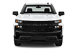 Car photography straight front view of a 2021 Chevrolet Silverado-1500 WT 2 Door Pick-up Front View