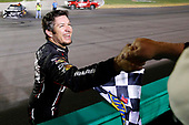Monster Energy NASCAR Cup Series<br /> Quaker State 400<br /> Kentucky Speedway, Sparta, KY USA<br /> Saturday 8 July 2017<br /> Martin Truex Jr, Furniture Row Racing, Furniture Row/Denver Mattress Toyota Camry celebrates his win <br /> World Copyright: Russell LaBounty<br /> LAT Images