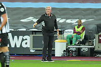 Newcastle United Manager Steve Bruce during West Ham United vs Newcastle United, Premier League Football at The London Stadium on 12th September 2020