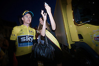 and yet again selfie-duties bonanza for Chris Froome (GBR/SKY): even the (potential) miss Belgiums need one for their social media profiles<br /> <br /> Post-Tour Criterium Mechelen 2015