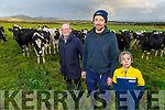 Thomas, Tommy and Liam Culloty on their farm in Curravough, Tralee.
