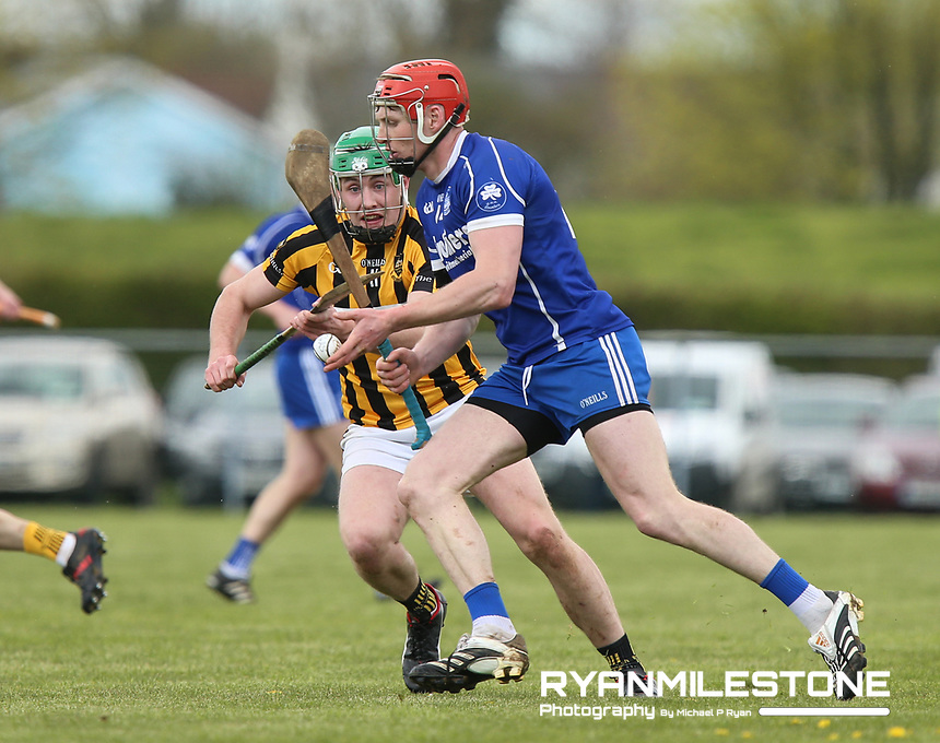Denis Maher of Thurles Sarsfields in action against Jack Butler of Upperchurch/Drombane during the Centenary Agri Mid Senior Hurling Championship Quarter Final between Thurles Sarsfields and Upperchurch/Drombane on Saturday 28th April 2018 at Templetuohy, Co Tipperary, Photo By Michael P Ryan