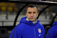 COLUMBUS, OH - NOVEMBER 07: US Soccer Women's team manager Vlatko Andonovski during a game between Sweden and USWNT at MAPFRE Stadium on November 07, 2019 in Columbus, Ohio.