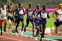 5th September 2020, Brussels, Netherlands;  Britain s Mo Farah 4th R runs during the One Hour Men at the Diamond League Memorial Van Damme athletics event at the King Baudouin stadium in Brussels, Belgium. Farah set a new world record.