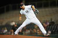 Scottsdale Scorpions pitcher James Kaprielian (60), of the New York Yankees organization, during a game against the Salt River Rafters on October 12, 2016 at Scottsdale Stadium in Scottsdale, Arizona.  Salt River defeated Scottsdale 6-4.  (Mike Janes/Four Seam Images)
