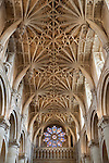 Great Britain, England, Oxfordshire, Oxford: vaulted ceiling of Christ Church Cathedral of Christ Church College (founded by Cardinal Wolsey in 1525), part of Oxford University | Grossbritannien, England, Oxfordshire, Oxford: Gewoelbedecke der Christ Church Cathedral des Christ Church Colleges (gegruendet von Cardinal Wolsey 1525), gehoeren zur Oxford University