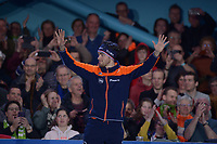 SCHAATSEN: HEERENVEEN: 07-03-2020, IJsstadion Thialf, ISU World Cup Final, Final Podium Long distances Men, Patrick Roest (NED), ©foto Martin de Jong