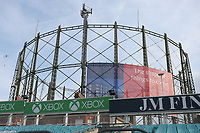 General view of the Oval gasholder ahead of Surrey CCC vs Essex CCC, LV Insurance County Championship Division 2 Cricket at the Kia Oval on 12th September 2021