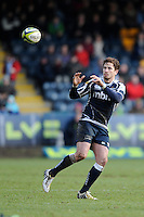 20130317 Copyright onEdition 2013©.Free for editorial use image, please credit: onEdition..Danny Cipriani of Sale Sharks focusses on the ball during the LV= Cup Final between Harlequins and Sale Sharks at Sixways Stadium on Sunday 17th March 2013 (Photo by Rob Munro)..For press contacts contact: Sam Feasey at brandRapport on M: +44 (0)7717 757114 E: SFeasey@brand-rapport.com..If you require a higher resolution image or you have any other onEdition photographic enquiries, please contact onEdition on 0845 900 2 900 or email info@onEdition.com.This image is copyright onEdition 2013©..This image has been supplied by onEdition and must be credited onEdition. The author is asserting his full Moral rights in relation to the publication of this image. Rights for onward transmission of any image or file is not granted or implied. Changing or deleting Copyright information is illegal as specified in the Copyright, Design and Patents Act 1988. If you are in any way unsure of your right to publish this image please contact onEdition on 0845 900 2 900 or email info@onEdition.com
