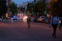 Police arrive to disperse protestors gathered in Washington, D.C., U.S., on Monday, June 1, 2020, following the death of an unarmed black man at the hands of Minnesota police on May 25, 2020.  More than 200 active duty military police were deployed to Washington D.C. following three days of protests.  Credit: Stefani Reynolds / CNP/AdMedia
