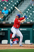 Buffalo Bisons Jordan Patterson (15) during an International League game against the Indianapolis Indians on June 20, 2019 at Sahlen Field in Buffalo, New York.  Buffalo defeated Indianapolis 11-8  (Mike Janes/Four Seam Images)