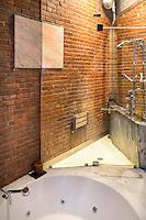 modern white bathtub