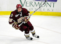 18 October 2009: Boston College Eagle forward Paul Carey, a Sophomore from Weymouth, MA, in action during the third period against the University of Vermont Catamounts at Gutterson Fieldhouse in Burlington, Vermont. The Catamounts defeated the visiting Eagles 4-1. Mandatory Credit: Ed Wolfstein Photo