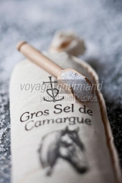 Europe/France/Provence-Alpes-Côte d'Azur/13/Bouches-du-Rhône/Arles / Albaron:  Gros sel de Camargue du Mas Alivon // France, Bouches du Rhone, Camargue sea salt