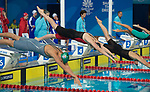 Wales Kathryn Greenslade in action during the Womans 4x100m Freestyle relay <br /> <br /> *This image must be credited to Ian Cook Sportingwales and can only be used in conjunction with this event only*<br /> <br /> 21st Commonwealth Games - Swimming - Day 3 - 07\04\2018 - Gold Coast Optus Aquatic centre - Gold Coast City - Australia