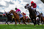MAR 07: River. Boyne with Abel Cedillo (right) defeats Got Stormy and Next Shares to win the Kilroe Mile at Santa Anita Park in Arcadia, California on March 7, 2020. Evers/Eclipse Sportswire/CSM