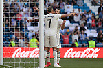 Real Madrid's Mariano Diaz celebrates goal during La Liga match between Real Madrid and Villarreal CF at Santiago Bernabeu Stadium in Madrid, Spain. May 05, 2019. (ALTERPHOTOS/A. Perez Meca)
