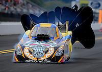 Sept. 18, 2011; Concord, NC, USA: NHRA funny car driver Jim Head during the O'Reilly Auto Parts Nationals at zMax Dragway. Mandatory Credit: Mark J. Rebilas-