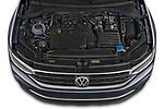 Car Stock 2021 Volkswagen Tiguan Elegance 5 Door SUV Engine  high angle detail view