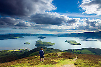 Loch Lomond and the Highland Boundary Fault Line from Conic Hill, Loch Lomond and the Trossachs National Park