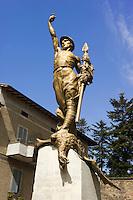 Italien, Umbrien, Kriegerdenkmal in Castel Rigone