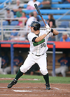 Bryan Peterson of the Jamestown Jammers, Class-A affiliate of the Florida Marlins, during New York-Penn League baseball action.  Photo by Mike Janes/Four Seam Images