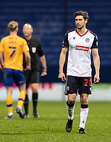 Bolton Wanderers' Shaun Miller looks on  <br /> <br /> Photographer Andrew Kearns/CameraSport<br /> <br /> The EFL Sky Bet League Two - Bolton Wanderers v Mansfield Town - Tuesday 3rd November 2020 - University of Bolton Stadium - Bolton<br /> <br /> World Copyright © 2020 CameraSport. All rights reserved. 43 Linden Ave. Countesthorpe. Leicester. England. LE8 5PG - Tel: +44 (0) 116 277 4147 - admin@camerasport.com - www.camerasport.com
