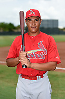 GCL Cardinals Donivan Williams (48) poses for a photo after a game against the GCL Mets on July 23, 2017 at Roger Dean Stadium Complex in Jupiter, Florida.  GCL Cardinals defeated the GCL Mets 5-3.  (Mike Janes/Four Seam Images)