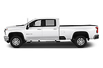 Car Driver side profile view of a 2020 Chevrolet Silverado-3500 LTZ 4 Door Pick-up Side View