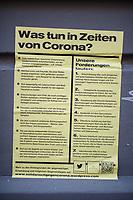 Auswirkungen der Corona-Krise.<br /> Im Bild: Plakat in Berlin-Kreuzberg ueber solidarisches Verhalten.<br /> 2.4.2020, Berlin<br /> Copyright: Christian-Ditsch.de<br /> [NUR FUER REDAKTIONELLE ZWECKE! Werbung nur auf Anfrage beim Fotografen. Inhaltsveraendernde Manipulation des Fotos nur nach ausdruecklicher Genehmigung des Fotografen. Vereinbarungen ueber Abtretung von Persoenlichkeitsrechten/Model Release der abgebildeten Person/Personen liegen nicht vor. NO MODEL RELEASE! Don't publish without copyright Christian-Ditsch.de, Veroeffentlichung nur mit Fotografennennung, sowie gegen Honorar, MwSt. und Beleg. Konto: I N G - D i B a, IBAN DE58500105175400192269, BIC INGDDEFFXXX, Kontakt: post@christian-ditsch.de<br /> Bei der Bearbeitung der Dateiinformationen darf die Urheberkennzeichnung in den EXIF- und  IPTC-Daten nicht entfernt werden, diese sind in digitalen Medien nach §95c UrhG rechtlich geschuetzt. Der Urhebervermerk wird gemaess §13 UrhG verlangt.]