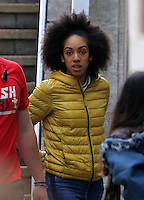 Pictured: Pearl Mackie on the set Friday 24 June 2016<br /> Re: Dr Who filming in Cardiff, south Wales, UK.