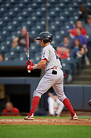 Reading Fightin Phils Jose Gomez (15) at bat during an Eastern League game against the Akron RubberDucks on June 4, 2019 at Canal Park in Akron, Ohio.  Akron defeated Reading 8-5.  (Mike Janes/Four Seam Images)