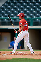 Canadian Junior National Team Ayden Makarus (32) at bat during a Florida Instructional League game against the Atlanta Braves on October 9, 2018 at the ESPN Wide World of Sports Complex in Orlando, Florida.  (Mike Janes/Four Seam Images)