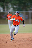 Miami Marlins Austin Dean (27) during a Minor League Spring Training Intrasquad game on March 27, 2018 at the Roger Dean Stadium Complex in Jupiter, Florida.  (Mike Janes/Four Seam Images)