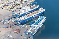 Schiffe am Skandinavienkai in Travemünde