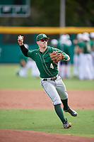Dartmouth Big Green second baseman Sean Sullivan (4) during practice before a game against the USF Bulls on March 17, 2019 at USF Baseball Stadium in Tampa, Florida.  USF defeated Dartmouth 4-1.  (Mike Janes/Four Seam Images)