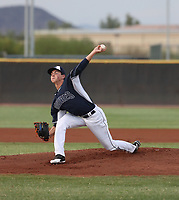 MacKenzie Gore, the San Diego Padres 2017 first round pick pitches in his first professional game for the Arizona League Padres against the Royals at the Padres complex on July 17, 2017 in Peoria, Arizona (Bill Mitchell)