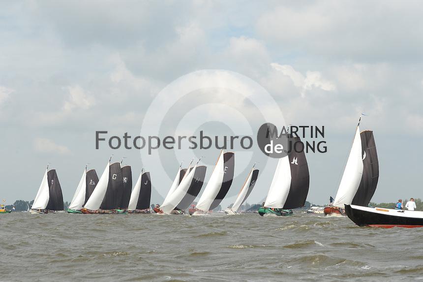 ZEILSPORT: WOUDSEND: 05-08-2019, SKS Skûtsjesilen, ©foto Martin de Jong