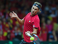 Gent, Belgium, November 27, 2015, Davis Cup Final, Belgium-Great Britain, Second match, Ruben Bemelmans (BEL)<br /> Photo: Tennisimages/Henk Koster