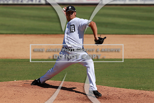 Detroit Tigers pitcher Jordan Pratt (54) during a game vs. the Washington Nationals in an Instructional League game at Joker Marchant Stadium in Lakeland, Florida;  October 1, 2010.   Photo By Mike Janes/Four Seam Images