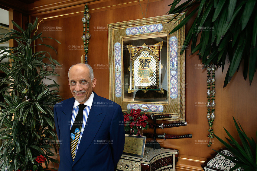 Italy. Province of Como. Campione. Campione is an italian enclave, close to Lugano, and surrended by Switzerland. The Egyptian Youssef Nada, president of the Nada Management, former Al Taqwa, at home in his villa Nada. The open criminal investigation against Youssef Nada, which directed Islamic bank Al-Taqwa of Lugano since its creation in 1988, is now classified. The Swiss Prosecutors office has been forced to drop its criminal case against Youssef Nada and Al Taqwa for its role in financing al Qaeda and terrorism. However Nada, who has denied any ties with terrorism, has admitted being in the past one of the principal leaders of the international branch of the Moslem Brothers. © 2006 Didier Ruef / pixsil